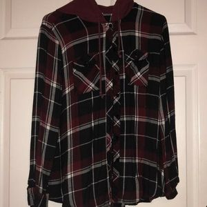 Flannel with a hood